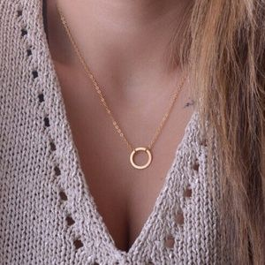 3 for $18 Open Circle Gold Chain Necklace